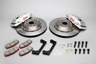 【DBA-ZN6】TOYOTA86/ SUBARU BRZフロントキャリパーキット EXZESS 4POTアルミ鍛造キャリパー&2pcs345mmローターキット(標準仕様・無地赤仕様)の選択をおねがいします。