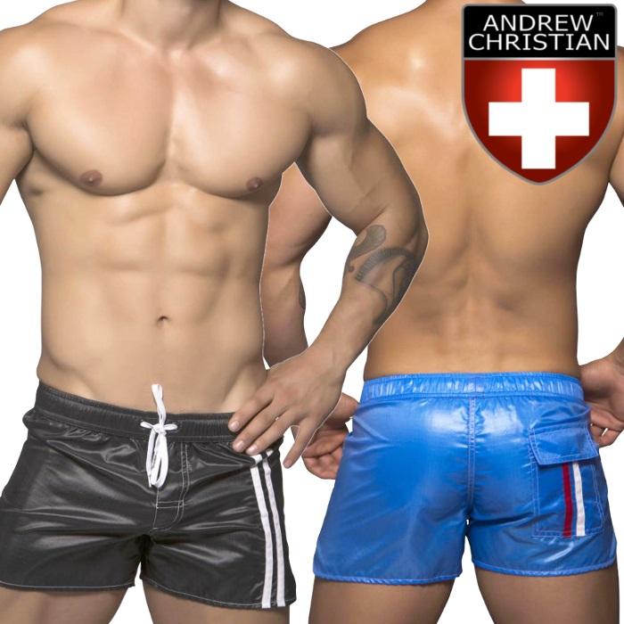 59046f24a7d Men s swimwear trunks brand short-length Board Shorts swimwear men swimwear  Andrew Christian Andrew Christian swim Diver (male swimsuit 7416)