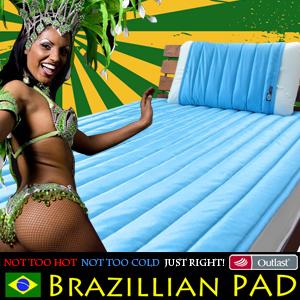 オマケ付!【敷パッド セミダブル】日本製アウトラストSPAスポーツ敷きパッド ブラジリアン ベッドパッド 機能性寝具  (OMK)