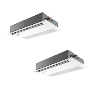 【最安値挑戦中!最大25倍】業務用エアコン 三菱 PMZX-ZRMP140FV 1方向天井カセット形 5馬力 三相200V 標準パネル ワイヤード [♪$]