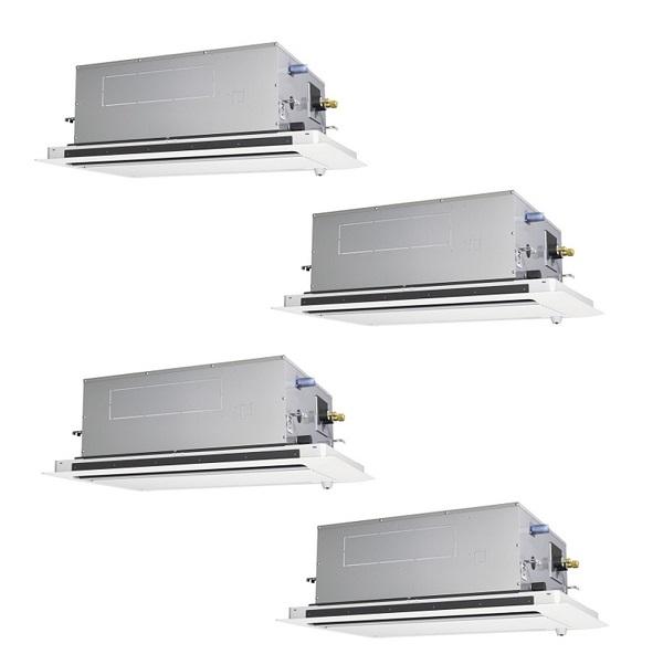 【最安値挑戦中!最大25倍】業務用エアコン 三菱 PLZD-ZRP224LY 2方向天井カセット形 同時フォー 8馬力 三相200V スリムZR 標準パネル [♪(^^)]