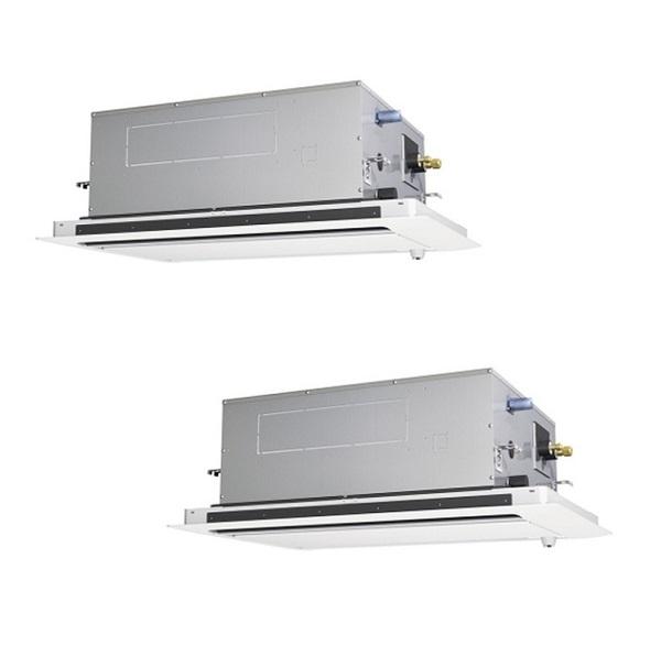 【最安値挑戦中!最大25倍】業務用エアコン 三菱 PLZX-HRMP112LY 2方向カセット 同時ツイン 4馬力 三相200V ズバ暖スリム 標準 [♪(^^)]