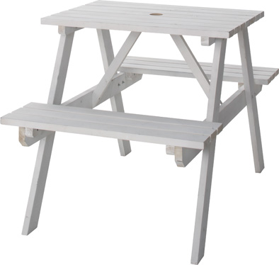 【最安値挑戦中!最大25倍】東谷 ODS-91WH テーブル&ベンチ W75 W75×D120×H75.5×SH45cm 組立 [♪]