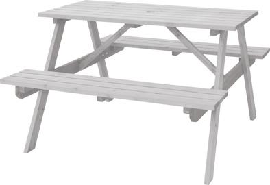 【最安値挑戦中!最大23倍】東谷 ODS-92WH テーブル&ベンチ W120 W120×D135×H75.5×SH45cm 組立 [♪]