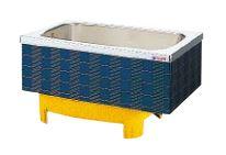 【最大44倍お買い物マラソン】クリナップ 浴槽 SXB-12SW(R・L) ブルー(B) マルチカラー・ステンレス浴槽 間口120cm 埋込式2方半エプロン [♪△]