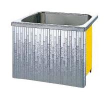 【最安値挑戦中!最大34倍】クリナップ 浴槽 SDL-81A(R・L) モダンブロック・ステンレス浴槽 間口80cm 据置式1方全エプロン [♪△]