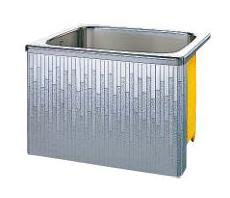 【最安値挑戦中!最大23倍】クリナップ 浴槽 SDL-91AW(R・L) モダンブロック・ステンレス浴槽 間口90cm 据置式1方全エプロン [♪△]