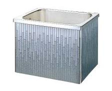【最安値挑戦中!最大34倍】クリナップ 浴槽 SDL-82A(R・L) モダンブロック・ステンレス浴槽 間口80cm 据置式2方全エプロン [♪△]