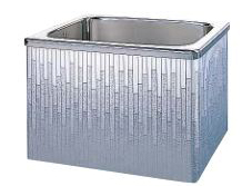 【最安値挑戦中!最大34倍】クリナップ 浴槽 SDL-92AW(R・L) モダンブロック・ステンレス浴槽 間口90cm 据置式2方全エプロン [♪△]