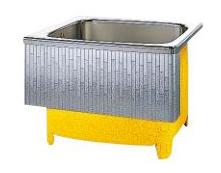 【最安値挑戦中!最大34倍】クリナップ 浴槽 SDL-91HW(R・L) モダンブロック・ステンレス浴槽 間口92cm 埋込式1方半エプロン [♪△]
