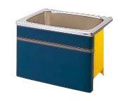 【最安値挑戦中!最大34倍】クリナップ 浴槽 SEB-91AW(R・L) ブルー(B) NEWインテリアバス・ステンレス浴槽 間口90cm 据置式1方全エプロン [♪△]