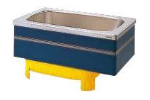 【最安値挑戦中!最大25倍】クリナップ 浴槽 SEB-12SW(R・L) ブルー(B) NEWインテリアバス・ステンレス浴槽 間口120cm 埋込式2方半エプロン [♪△]