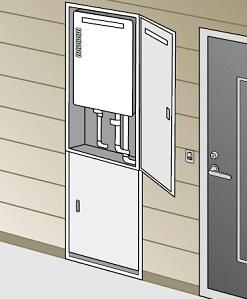 【最安値挑戦中!最大25倍】ガス給湯器 部材 パロマ 【KTDR-7】(59482) 壁埋込み型オプション部品 取替扉
