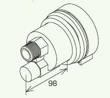 【最安値挑戦中!最大24倍】給湯器部材 パロマ 【BMZAWS-S1】(50312) 循環金具(バスアダプター)高温水供給タイプ用 ネジ接続タイプ(安全装置付き) S型