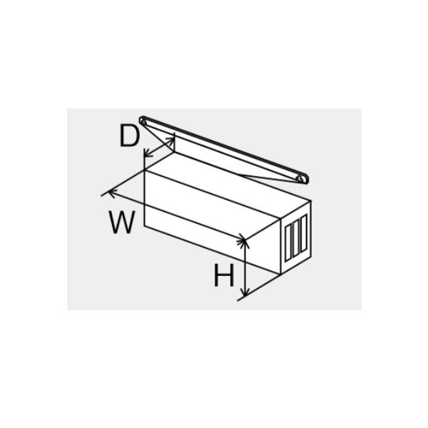 【最安値挑戦中!最大25倍】ガス給湯器 部材 パーパス HY-4569 排気横出しカバー [◎]