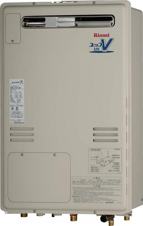 【最安値挑戦中!最大25倍】ガス給湯器 リンナイ RUH-V1613W-A 16号 屋外壁掛 PS設置型 [≦]