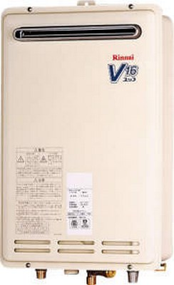 【最安値挑戦中!最大25倍】ガス給湯器 リンナイ RUK-V1610BOX-E 16号 屋外壁掛型 壁組込設置型 [■]