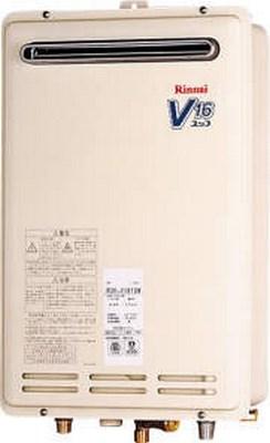 【最安値挑戦中!最大25倍】ガス給湯器 リンナイ RUK-V1610W-E 16号 屋外壁掛型 壁組込設置型 [⇔]