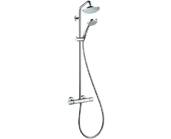 【最安値挑戦中!最大34倍】セラトレーディング HG27135S クロマ160 サーモスタット式シャワー用湯水混合栓(シャワーパイプタイプ) [■]