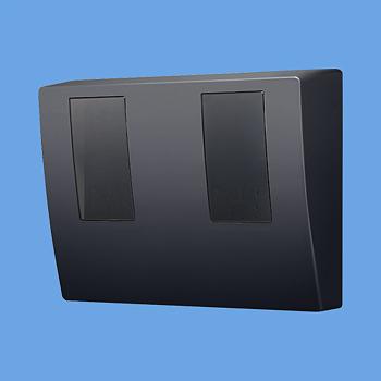 【最安値挑戦中!最大24倍】電設資材 パナソニック BQKN8325B WHMボックスブラック 隠蔽配線用 2コ用 [∽]