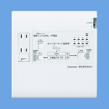 【最安値挑戦中!最大33倍】 電設資材 パナソニック WTJ5043K 宅内LANパネル まとめてねット [∽]