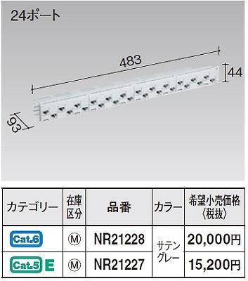 【最安値挑戦中!最大24倍】 電設資材 パナソニック NR21228 ぐっとすシリーズモジュラ型パッチパネル(CAT6)(24ポート サテングレー) [∽]
