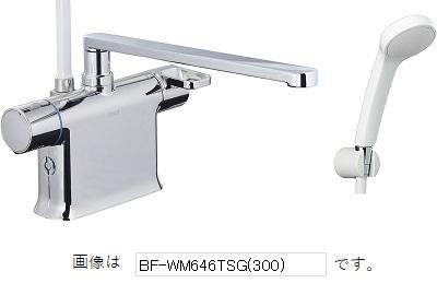 【最安値挑戦中!最大25倍】INAX BF-WM646TNSG(300) サーモスタット付シャワーバス水栓 エコフルスプレーシャワー クロマーレS デッキタイプ 湯張りミスト 寒冷地(水抜き式) [□]