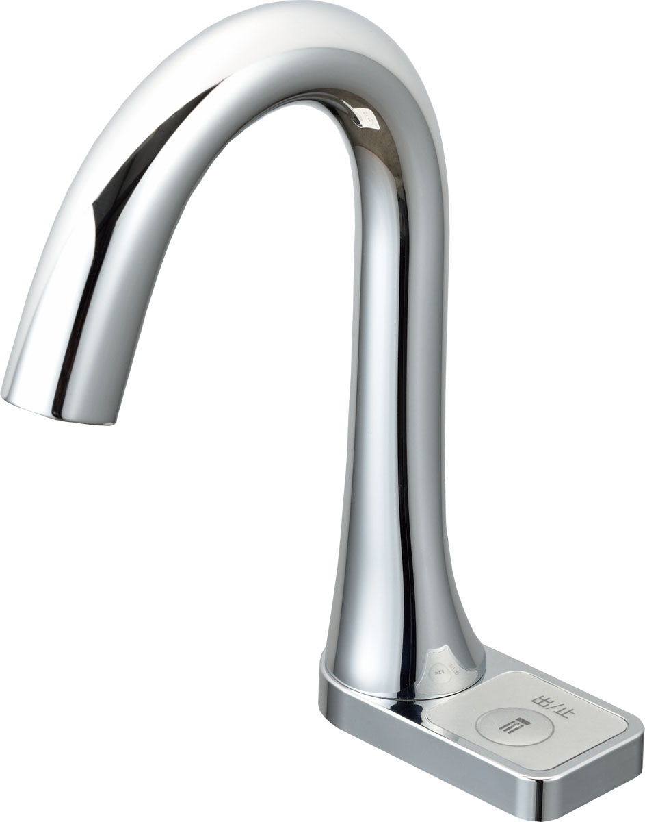 【最大44倍お買い物マラソン】水栓金具 INAX AM-211CV1 洗面器・手洗器用 自動水栓 オートマージュ グースネック スイッチ付 単水栓 一般地 排水栓なし [□]