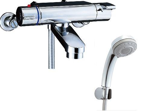【最大44倍お買い物マラソン】水栓金具 INAX BF-2147TKNSB シャワーバス 洗い場専用 サーモスタット ヴィラーゴ 逆止弁付 寒冷地 [□]