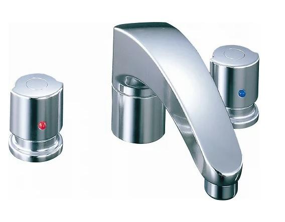 【最安値挑戦中!最大25倍】水栓金具 INAX BF-A090B バス水栓 デッキタイプ 2ハンドル アウゼ 湿式工法 一般地 [□]