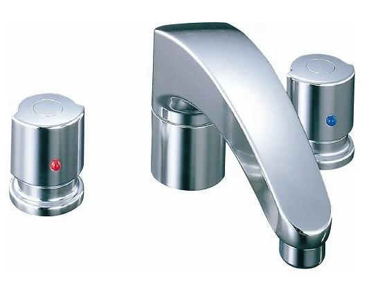 【最安値挑戦中!最大34倍】水栓金具 INAX BF-A093B バス水栓 デッキタイプ 2ハンドル アウゼ 乾式工法 一般地 [□]
