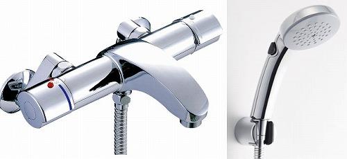 【最安値挑戦中!最大34倍】水栓金具 INAX BF-A147TNSCW シャワーバス 洗い場専用 サーモスタット アウゼ 逆止弁付 寒冷地 [□]