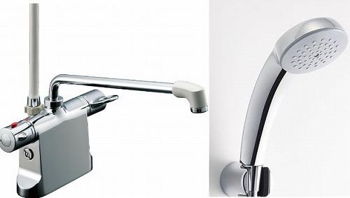 【最安値挑戦中!最大34倍】水栓金具 INAX BF-B646TNSC(300)-A85 サーモスタット付シャワーバス デッキ・シャワータイプ 乾式工法 逆止弁付 寒冷地 [□]