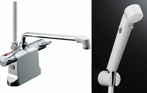 【最安値挑戦中!最大34倍】水栓金具 INAX BF-B646TSDW(300)-A120 サーモスタット付シャワーバス デッキ・シャワータイプ 乾式工法 逆止弁付 一般地 [□]