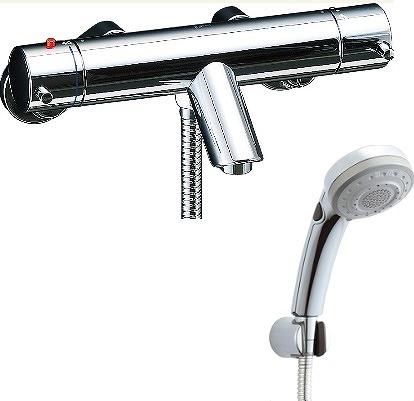 【最大44倍お買い物マラソン】水栓金具 INAX BF-E147TSBW シャワーバス 洗い場専用 サーモスタット eモダン 逆止弁付 一般地 [□]