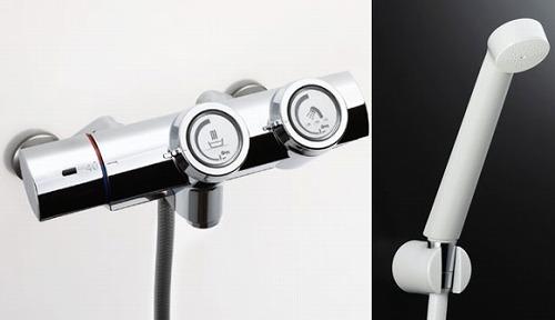 【最安値挑戦中!最大34倍】水栓金具 INAX BF-HW156TNSD シャワーバス 洗い場専用 サーモスタット 一般水栓 プッシュ式 逆止弁付 寒冷地 [□]