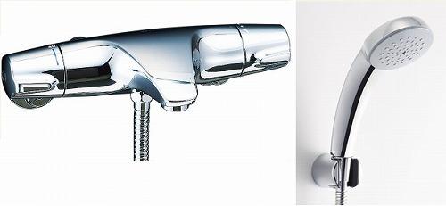 【最安値挑戦中!最大34倍】水栓金具 INAX BF-J147TNSC シャワーバス 洗い場専用 サーモスタット ジュエラ 逆止弁付 寒冷地 [□]