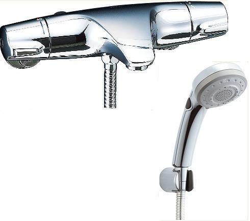 【最安値挑戦中!最大34倍】水栓金具 INAX BF-J147TSBW シャワーバス 洗い場専用 サーモスタット ジュエラ 逆止弁付 一般地 [□]