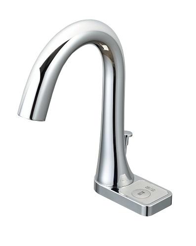 【最安値挑戦中!最大25倍】水栓金具 INAX AM-211TV1 洗面器・手洗器用 自動水栓 オートマージュ グースネック スイッチ付 混合水栓 逆止弁付 ポップアップ式 [□]