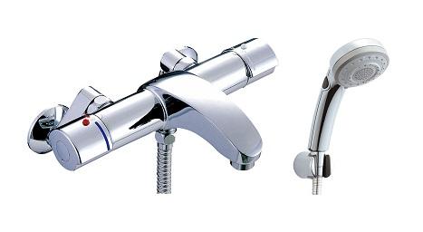 【最大44倍お買い物マラソン】水栓金具 INAX BF-A147TSBW シャワーバス 洗い場専用 サーモスタット アウゼ 逆止弁付 一般地 [□]