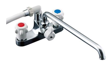 【最安値挑戦中!最大25倍】水栓金具 INAX BF-M607-GA ホールインワン専用浴槽 2ハンドル ミーティス 逆止弁付 乾式工法 一般地[〒□]