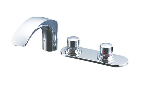 【最安値挑戦中!最大25倍】水栓金具 INAX BF-X195TL バス水栓 デッキタイプ サーモスタット 逆止弁付 湿式工法 一般地 [〒□]