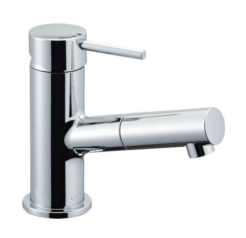 【最安値挑戦中!最大34倍】水栓金具 INAX LF-E345SYC 洗面器・手洗器用 吐水口引出式シングルレバー混合 eモダン エコハンドル 逆止弁付 一般地 排水栓なし [□]