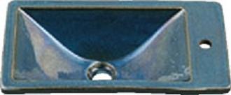 【最安値挑戦中!最大34倍】カクダイ 【493-010-CB】 JEWEL BOX 瑠珠 角型手洗器 孔雀 [♪■]