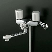 【最安値挑戦中!最大25倍】シャワー水栓 KVK KF141G3R24 一時止水付2ハンドルシャワー 240mmパイプ付