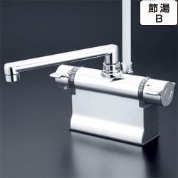 【最安値挑戦中!最大25倍】シャワー水栓 KVK KF3011T 浴室シャワー水栓 可変ピッチ式 デッキ形サーモスタット式シャワー 190mmパイプ仕様
