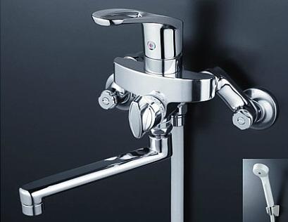 【最安値挑戦中!最大23倍】シャワー水栓 KVK KF5000TR2 シングルレバー式シャワー 240mmパイプ付