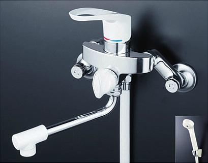 【最安値挑戦中!最大25倍】シャワー水栓 KVK KF5000Z シングルレバー式シャワー