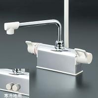 【最安値挑戦中!最大24倍】シャワー水栓 KVK KF781 デッキ形サーモスタット式シャワー 取付配管ピッチ100mmタイプ