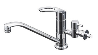 【最安値挑戦中!最大24倍】水栓 KVK KM5011UTTU マルチリフォーム水栓 給水 給湯接続 シングルレバー式混合栓